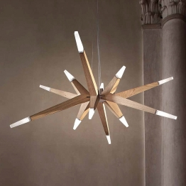 Eiche modern - LED-Hängeleuchte Flashwood, 140 cm