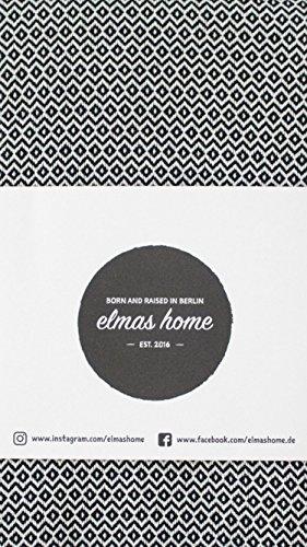 Elmas Home Decke WAVY DIAMOND aus 100% Baumwolle - Tagesdecke / Couchdecke / Überwurf - 240 x 200cm XXL (Samt-Schwarz) - 7