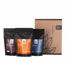 Dieses Probierpaket enthält drei Espressosorten