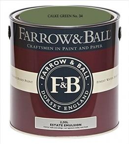 Farrow & Ball Estate Emulsion 2,5 Liter - CALKE GREEN No. 34 - 1