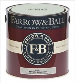 Farrow & Ball Estate Emulsion 2,5 Liter - LIGHT BLUE No. 22 - 1