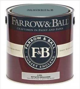 Farrow & Ball Estate Emulsion 2,5 Liter - OVAL ROOM BLUE No. 85 - 1