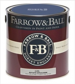 Farrow & Ball Estate Emulsion 2,5 Liter - PITCH BLUE No. 220 - 1