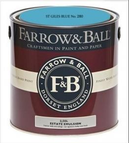 Farrow & Ball Estate Emulsion 2,5 Liter -ST GILES BLUE No. 280 - 1