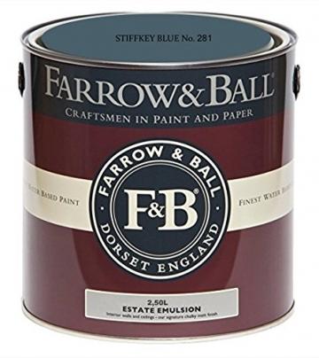 Farrow & Ball Estate Emulsion 2,5 Liter - STIFFKEY BLUE No. 281 - 1