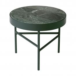 ferm LIVING - Marble Couchtisch klein - grün/H 35cm / Ø 40cm/Gestell grün pulverbeschichtet