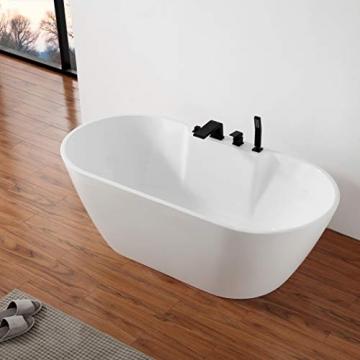 Freistehende Badewanne JAZZ PLUS Acryl weiß - 170 x 80 cm, Vormontage:Mit Vormontage (5 Werktage), Wannenarmatur:Mit Wannenarmatur 6080 - 2