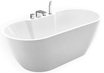 freistehende badewanne jazz plus acryl wei 170 x 80 cm vormontage mit vormontage 5 werktage