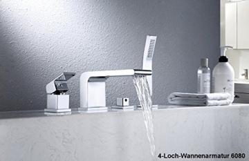 Freistehende Badewanne JAZZ PLUS Acryl weiß - 170 x 80 cm, Vormontage:Mit Vormontage (5 Werktage), Wannenarmatur:Mit Wannenarmatur 6080 - 6