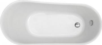 Freistehende Badewanne PARIS Acryl weiß BS-830 176 x 71 cm - Metallfüße wählbar, Standarmatur:Inkl. Standarmatur 1414 Chrom, Farbe der Füße:gold - 4