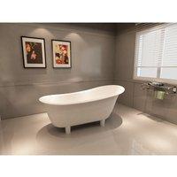 Freistehende Badewanne PURE aus Mineralguss (Solid Stone) weiß - 180 x 85 cm - BERNSTEIN