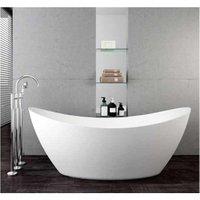 Freistehende Badewanne SIENA Acryl Weiß matt - 173 x 73 x 75 cm - Standarmatur wählbar Ohne Standarmatur, Inkl. Siphon - BERNSTEIN