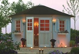 Gartenhaus Lupinus S8207 inkl. Fußboden - 28 mm Blockbohlenhaus, Grundfläche: 7,78 m², Zeltdach - 1