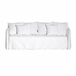 Gervasoni - Ghost Out 12 Outdoor Sofa - weiß/Outdoor Stoff Aspen 03/BxHxT 220x80x85cm/Bezug abnehmbar