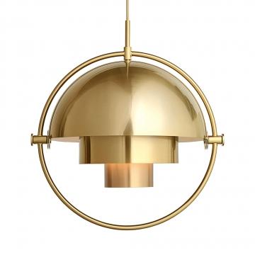 Gubi - Multi-Lite Pendelleuchte Ø32cm Gestell Messing - messing/Ø 36cm/Kabel gold