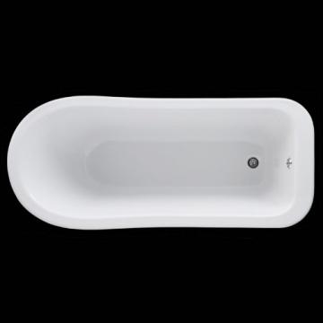 Hudson Reed Freistehende Badewanne Wanne Standbadewanne Kensington mit Füßen - Höhe 730 mm x Länge: 1700 mm - Lucite Acryl - Weiß - 4