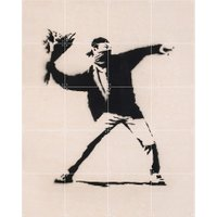 IXXI - Love is in the Air (Banksy), 80 x 100 cm