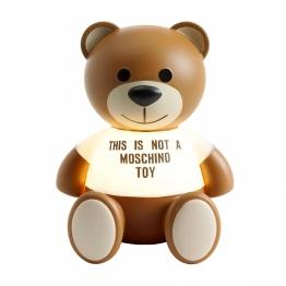 Kartell - Toy Tischleuchte - weiß transparent/braun/Bärchen von Moschino/lackiert/BxHxT 25x30x24cm/1x LED E14 5V 1,2W 2700K IP20