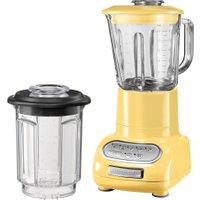 KitchenAid - Artisan Standmixer mit 1.5 l Glasbehälter und 0.75 l Küchenmixbehälter, pastellgelb