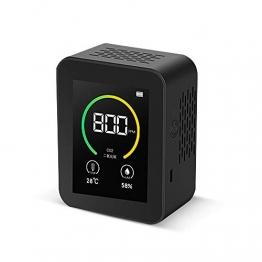 KKmoon CO2 Messgerät Luftqualität Messgerät CO2 Kohlendioxid Detektor 400-5000PPM Messbereich Intelligenter Lufttester mit Temperatur-Feuchtigkeits-Anzeige Gaskonzentration Inhalt TFT Farbbildschirm - 1