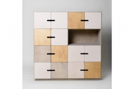 Kommode - Highboard Pix 4x4 aus Holz