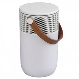 KREAFUNK aGLOW White Bluetooth Lautsprecher Weiß LED Beleuchtung