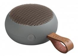 KREAFUNK aGo Grau / Rosègold Bluetooth Lautsprecher klein tragbar USB