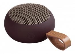 KREAFUNK aGo Pflaume / Rosègold Bluetooth Lautsprecher klein tragbar USB