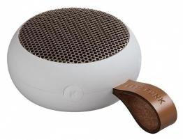 KREAFUNK aGo Weiß / Rosègold Bluetooth Lautsprecher klein tragbar USB
