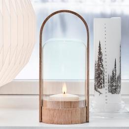LE KLINT Candle Light LED-Laternenleuchte, eiche