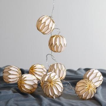 LED-Lichterkette Origam, gold