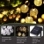 LED Solar Lichterkette Kristall Kugeln 4.5 Meter 30er Warmweiß, Mr.Twinklelight Außerlichterkette Deko für Garten, Bäume, Terrasse, Weihnachten, Hochzeiten, Partys, Innen und außen - 2