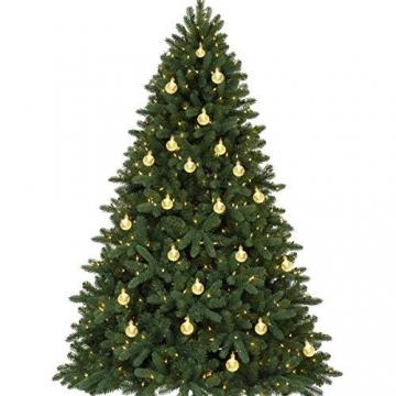 LED Solar Lichterkette Kristall Kugeln 4.5 Meter 30er Warmweiß, Mr.Twinklelight Außerlichterkette Deko für Garten, Bäume, Terrasse, Weihnachten, Hochzeiten, Partys, Innen und außen - 6