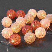 LES BELLES Cotton Ball Lichterkette 20 Lichter