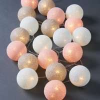 LES BELLES Cotton Ball Lichterkette 20 Lichter