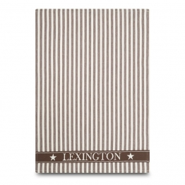 Lexington Striped Geschirrtuch 50 x 70cm braun
