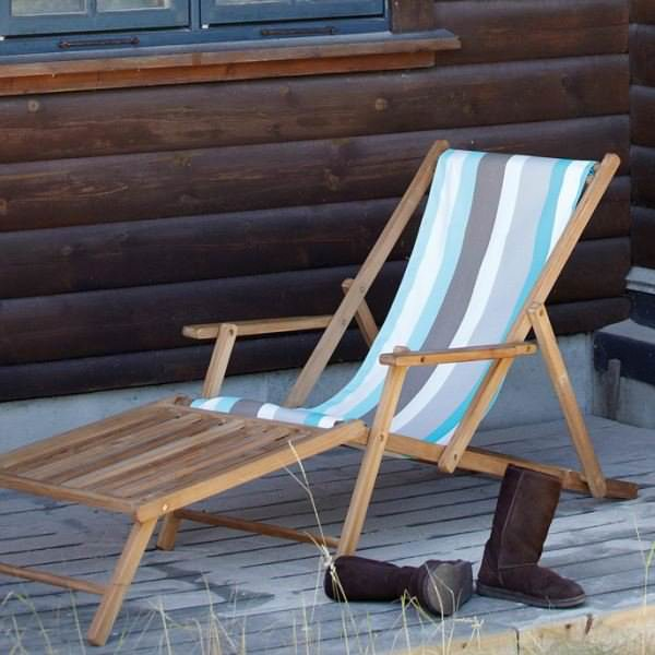 liegestuhl deckchair maxx mit fu teil streifen tarifa shop landhaus look. Black Bedroom Furniture Sets. Home Design Ideas