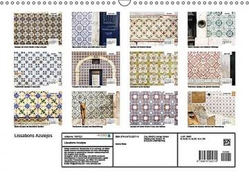 Lissabons Azulejos (Wandkalender 2019 DIN A3 quer): Die traditionellen Fliesen Portugals (Monatskalender, 14 Seiten ) (CALVENDO Orte) - 14