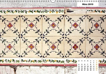 Lissabons Azulejos (Wandkalender 2019 DIN A3 quer): Die traditionellen Fliesen Portugals (Monatskalender, 14 Seiten ) (CALVENDO Orte) - 4