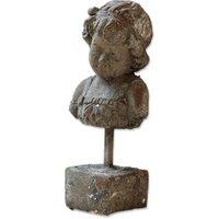 LOBERON Büste Amelie, grau (11 x 14 x 29cm)