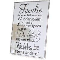 LOBERON Dekoboard Family Love, weiß (0.5 x 30.5 x 39.5cm)