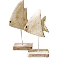 LOBERON Fisch 2er Set Cancale, antikweiß (7 x 16 x 28cm)