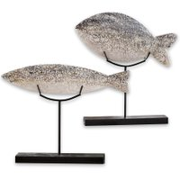LOBERON Fisch 2er Set Ulver, grau