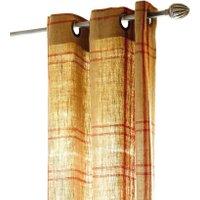 LOBERON Gardine Goudet, beige/rot (135 x 250cm)