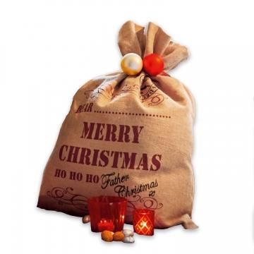 LOBERON Geschenkesack Christmas, beige (24 x 24 x 40.5cm)