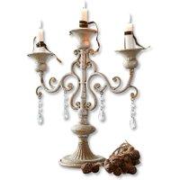LOBERON Kerzenständer Chantan, antikgrau (15 x 41 x 41cm)