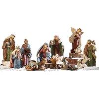 LOBERON Krippenfiguren 11er Set Christi, bunt (20cm)