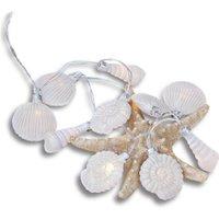 LOBERON Lichterkette White Shells, weiß (165cm)