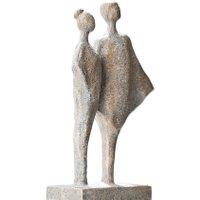 LOBERON Skulptur Teslin, antikgrau (9 x 17 x 31cm)