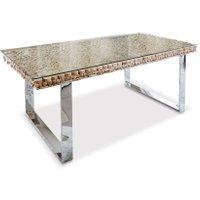 LOBERON Tisch Waterford, braun/silber (100 x 200 x 75cm)